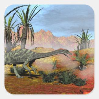 Adesivo Quadrado Dinossauro do Anchisaurus - 3D rendem