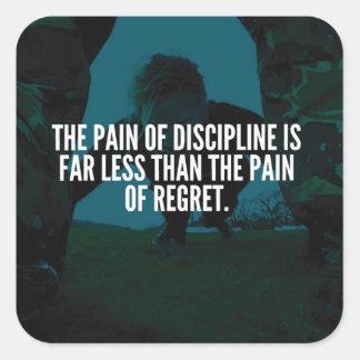 Adesivo Quadrado Disciplina - exercício inspirado
