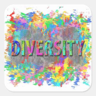 Adesivo Quadrado Diversidade