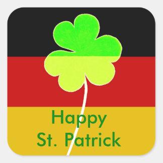 Adesivo Quadrado Divertimento alemão irlandês de St Patrick do