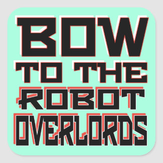 """Adesivo Quadrado Do """"os Overlords robô"""" esquadram etiquetas, 3"""