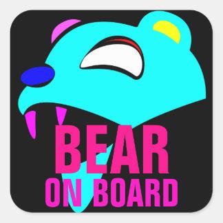 Adesivo Quadrado Dome o urso