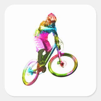 Adesivo Quadrado Downhiller colorido