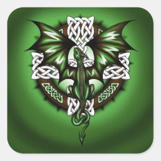 Adesivo Quadrado dragão celta