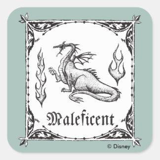 Adesivo Quadrado Dragão Maleficent da Bela Adormecida | - gótico