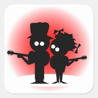 Adesivo Quadrado Duo da guitarra
