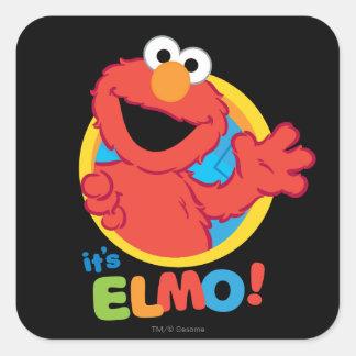 Adesivo Quadrado É Elmo