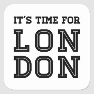 Adesivo Quadrado É hora para Londres