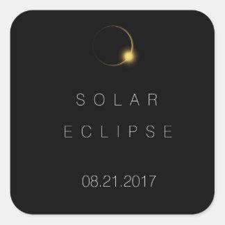 Adesivo Quadrado Eclipse 2017 solar total americano