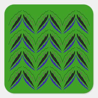 Adesivo Quadrado Eco verde dos elementos do design