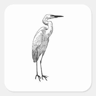 Adesivo Quadrado Egret branco