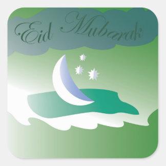 Adesivo Quadrado Eid Mubarak