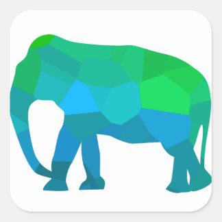 Adesivo Quadrado Elefante 1 do mosaico