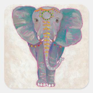 Adesivo Quadrado Elefante asiático do zen