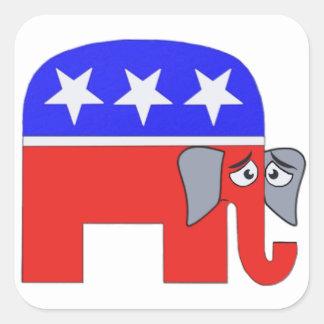 Adesivo Quadrado Elefante do GOP
