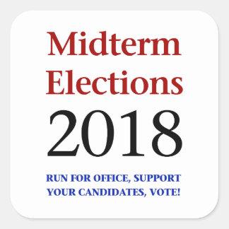 Adesivo Quadrado Eleições Midterm 2018