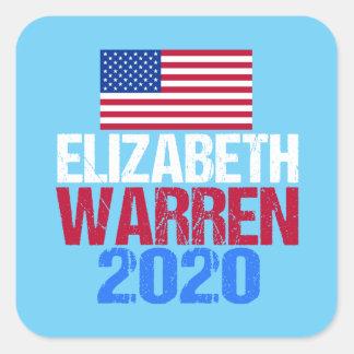 Adesivo Quadrado Elizabeth Warren 2020