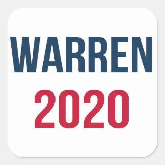 Adesivo Quadrado Elizabeth Warren para o presidente 2020