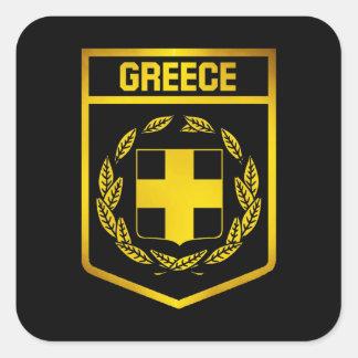 Adesivo Quadrado Emblema da piscina