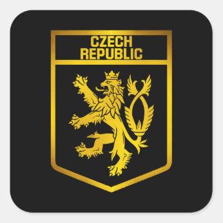 Adesivo Quadrado Emblema da república checa
