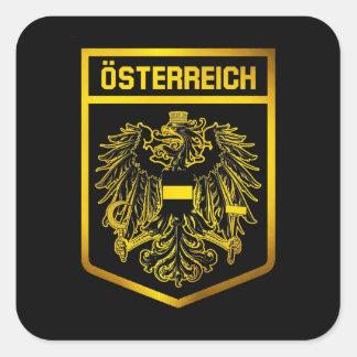Adesivo Quadrado Emblema de Áustria