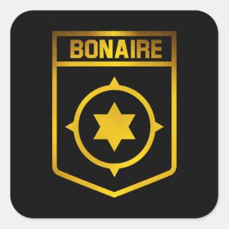 Adesivo Quadrado Emblema de Bonaire