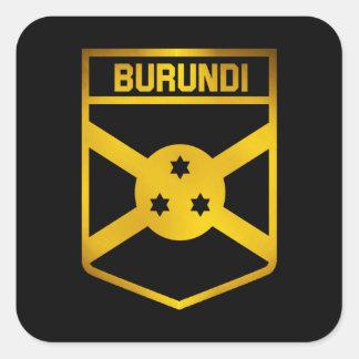 Adesivo Quadrado Emblema de Burundi
