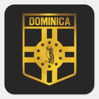 Adesivo Quadrado Emblema de Dominica