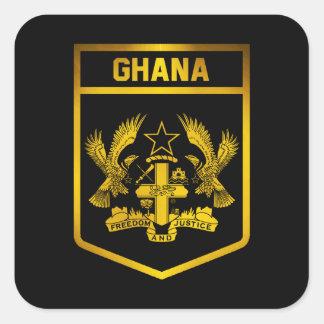 Adesivo Quadrado Emblema de Ghana