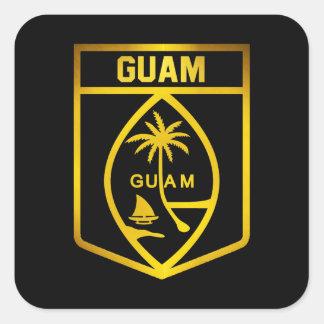 Adesivo Quadrado Emblema de Guam