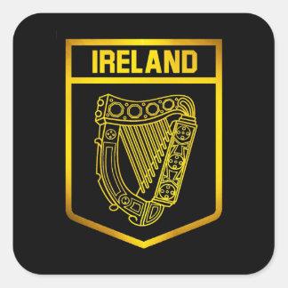 Adesivo Quadrado Emblema de Ireland