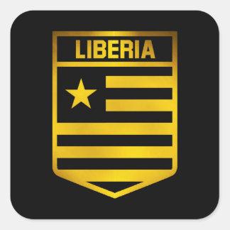 Adesivo Quadrado Emblema de Liberia