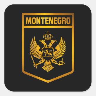 Adesivo Quadrado Emblema de Montenegro