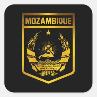 Adesivo Quadrado Emblema de Mozambique