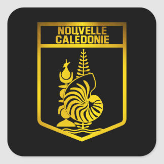 Adesivo Quadrado Emblema de Nova Caledônia
