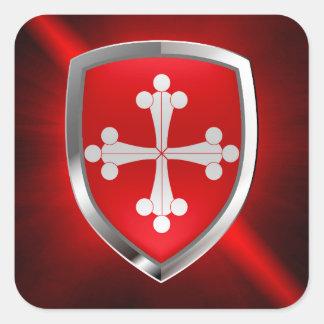 Adesivo Quadrado Emblema de Pisa Mettalic
