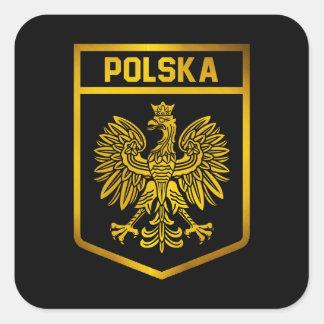 Adesivo Quadrado Emblema de Polska