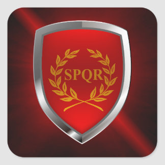 Adesivo Quadrado Emblema de Roma Mettalic