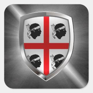 Adesivo Quadrado Emblema de Sardegna Mettalic