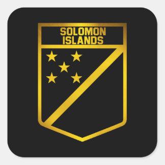 Adesivo Quadrado Emblema de Solomon Island
