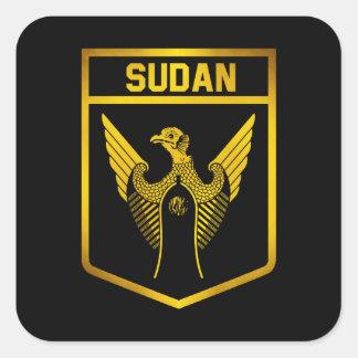 Adesivo Quadrado Emblema de Sudão