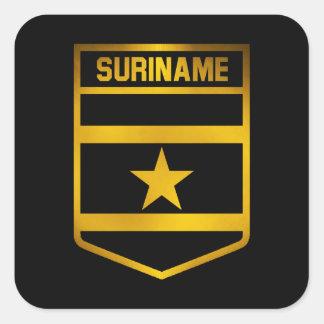 Adesivo Quadrado Emblema de Suriname