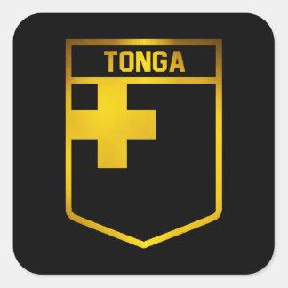 Adesivo Quadrado Emblema de Tonga