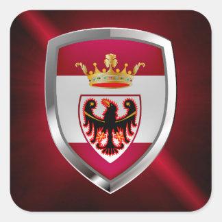 Adesivo Quadrado Emblema de Trento Mettalic