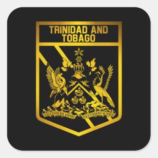 Adesivo Quadrado Emblema de Trinidad and Tobago