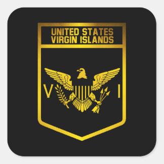 Adesivo Quadrado Emblema dos E.U. Virgin Islands