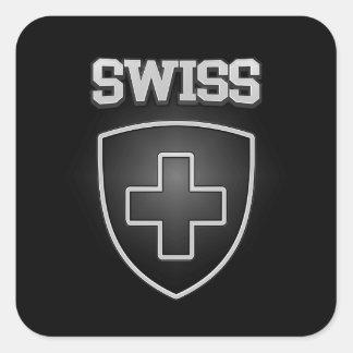 Adesivo Quadrado Emblema suíço