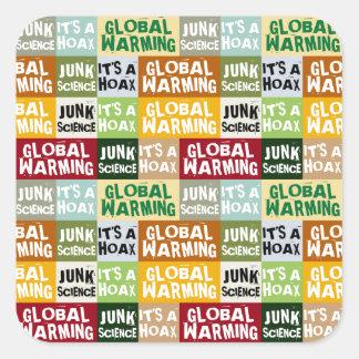 Adesivo Quadrado Embuste do aquecimento global