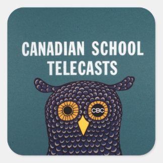 Adesivo Quadrado Emissões canadenses da escola