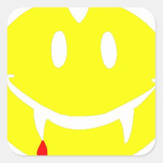 Adesivo Quadrado emoji dracula do vampiro